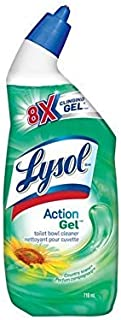 Lysol Toilet Bowl Cleaner, Action Gel, Country, 710ml, 8x Clinging Gel