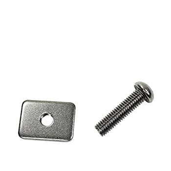 Wavestorm Metal Screw and Plate Set // Metal Screw and Plate Set for Longboard Surfboard and Stand Up Paddleboard Fin Installation