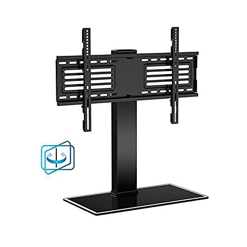 Soporte TV Desktop Ajustable TELEVISOR Soporte de escritorio Pantalla de pantalla Universal 37 '-65' de acero TELEVISOR Base, max VESA 60 0x400mm y sostiene hasta 110 libras Soporte para TV