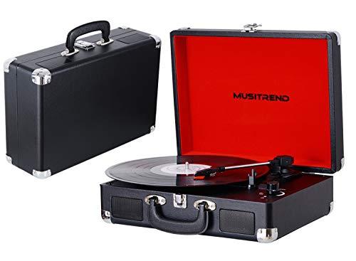 Pareiko Vintage Platenspeler met Ingebouwde Luidsprekers 3-speed Vinylspeler met Hoofdtelefoonaansluiting/AUX-ingang/RCA Line Out