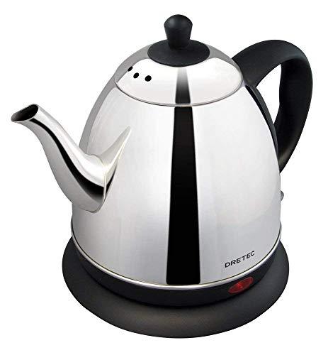電気ケトル ステンレス コーヒー ドリップ ポット 細口 湯沸かし 0.8L PO-115BK2 (ブラック)