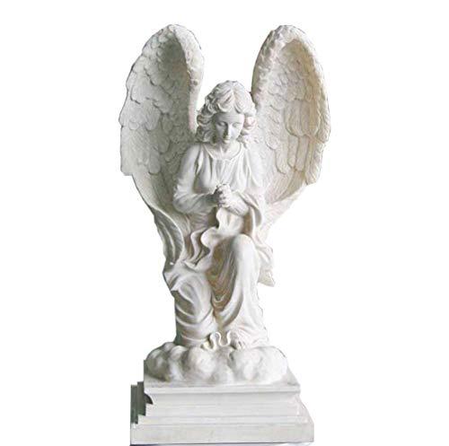 Individualität Bildungsmodell im Freien Engel Statue, Garten beten Engel Skulptur Schöne Engel Rasen Wald Kreatives Großes Harz