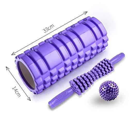 FLY FLU Foam Roller,Faszienrolle Foam Roller Physiotherapie Muskelmassagegerät Massageball Für Plantarfasziitis Fersenschmerzen Muskelkater Myofascial Release Fersensporn,Purple