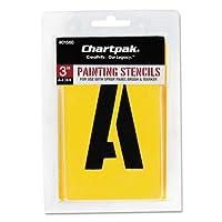 Chartpak ペイントステンシルセット A-Z セット/0-9 マニラ 35/セット 01560 (DMi ST