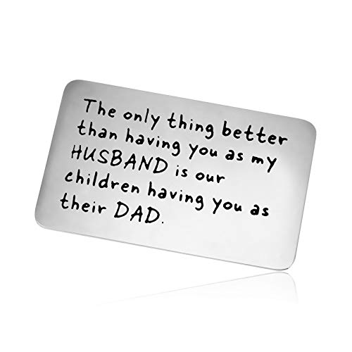 Anniversary Card Gifts To Husband Gift From Wife Metal Wallet Insert Card for Boyfriend Husband Men Engraved Wallet Insert Card Gift Father's Day Gift Dad Jewelry Birthday Wedding Gift Couple Gift
