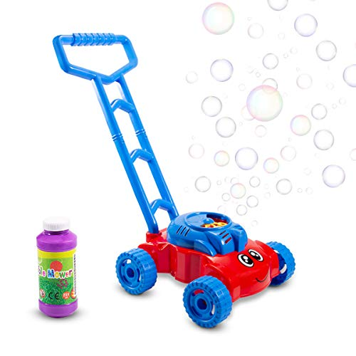 Bubble Mower Outdoor Party Toys for Kids, Automatic Bubble Lawn Machine with Bubble Solution Electronic Bubble Blower Machine Best Gifts for 2 -10 Years Old Kids Toddler Lawn Mower