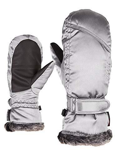Seher Junior Skihandschuhe für Mädchen, mit LED-Beleuchtung, Wintersport, warm, atmungsaktiv, silber (metallic silver), 3