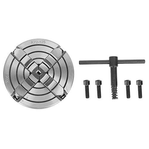 Mandril de 4 mordazas para torno de cuatro mordazas para torno, rango de sujeción 7~57 mm y 48~125 mm, 3000 rpm, para fresadora CNC
