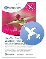 WindowAlert 反衝突デカール - ガラス衝突から野鳥を保護するUV反射窓デカール ハチドリ
