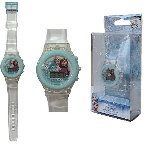 KIDS EUROSWAN Orologio da Polso Digitale Frozen Disney Elsa Anna con LED in Confezione Regalo - WD17490