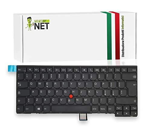 New Net Keyboards - Tastiera Italiana Compatibile per Notebook Lenovo ThinkPad T440 T440s T440p T431s T450 T460 T450s L440 L450 L460 E440 E450 con Tra