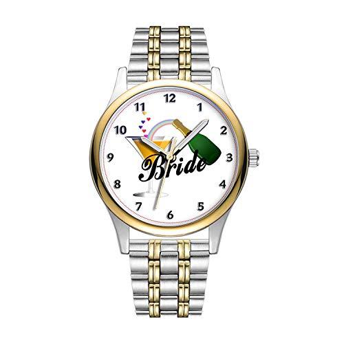 Personalisierte Minimalistische Brides Champagner Toast Wrist Uhren Goldene Fashion wasserdichte Sportuhr