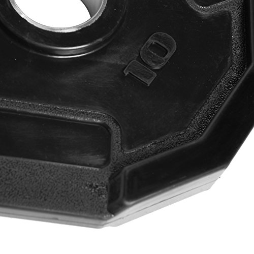 CAP Barbell Olympic 2-Inch 3-Grip Rubber Plate