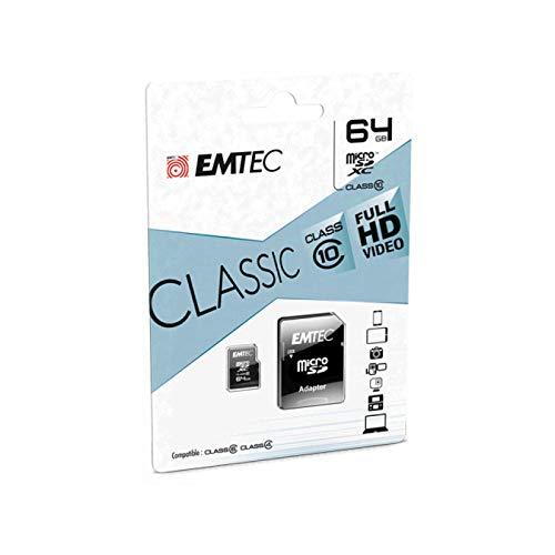 Emtec Micro SDHC ECMSDM64GXC10CG memoria flash 64 GB MicroSDHC Classe 10
