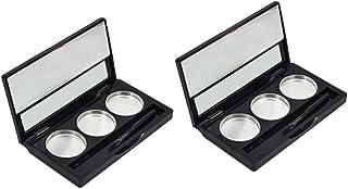 ZWWZ 2 Stks Lege Oogschaduw Palet 3 Kleuren Make-up Container Palet Cosmetica Organizer Palet
