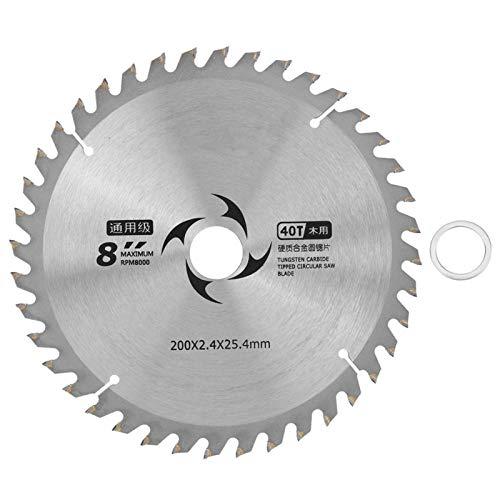 Agatige 8 'Circular Saw Cutter Metal Cutting Cutter Carburo madera aglomerado Contrachapado disco de corte carpintería (80t)