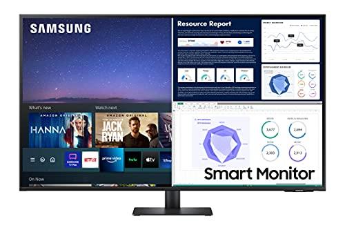 Samsung LS43AM702UUXEN - Monitor Samsung Smart M7 de 43'' UHD, 3,840 x 2,160, USB-C, Altavoces, Conectividad Móvil, Mando a Distancia y Aplicaciones de Smart TV (Netflix, Prime TV, Youtube)