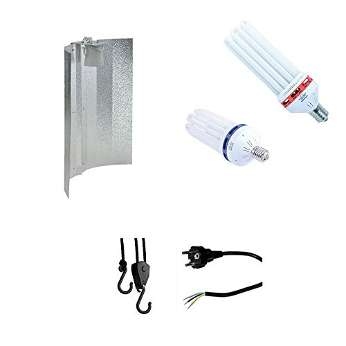 Nice Grow Beleuchtungs-Set Light Set Energiesparlampe ESL Wuchs 105W - Blüte105W Reflektor