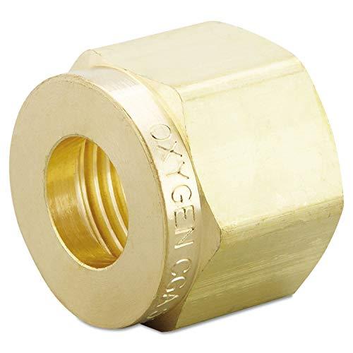 Western Enterprises 62 Regulator Inlet Nuts, Oxygen, Brass, CGA-540