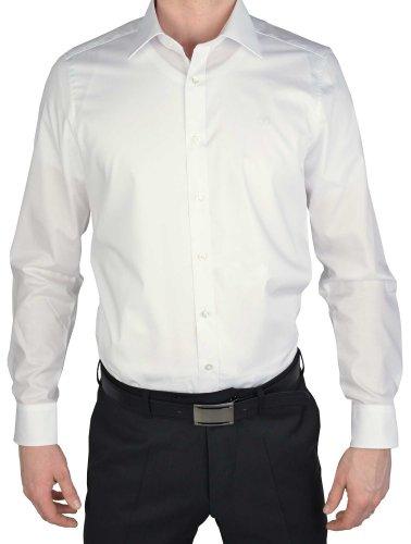 OLYMP Level 5 Body Fit Hemd Langarm Popeline Stretch weiss, Gr:: XXL/46