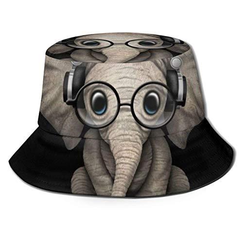 Sombrero de Cubo para Mujer, Hombre, al Aire Libre, Sombrero de Cubo de ala Ancha, protección Solar, Gorra de Pescador, Gafas de Elefante