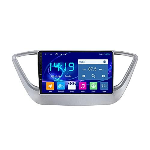 MGYQ 9 Pulgadas 2.5D De Pantalla Táctil Coche Reproductor De Video Multimedia Soporte AUX Input/FM/BT/WiFi/SWC/Mirror Link, para Hyundai Solaris 2 2017-2018 Radio De Coche,Quad Core,4G WiFi 1+32