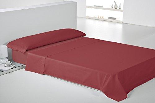 Play Basic Collection Lisa Juego de Sábana, Algodón-Poliéster, Rojo, 270x240x3 cm, 3 Unidades