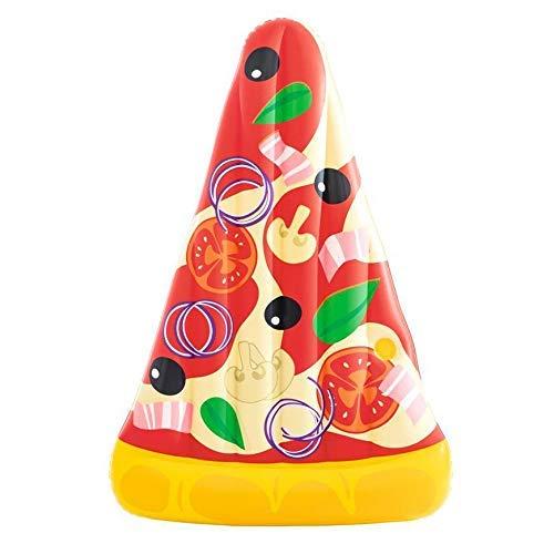 TYUXINSD Licht Schwimmbad Schwimmbett Pizza Floating Row Single Floating Reihen Aufblasbare Schwimmbett Wasserbett Luftbetten & Schlauchbett (Farbe: Farbe, Größe: 188 × 130cm)