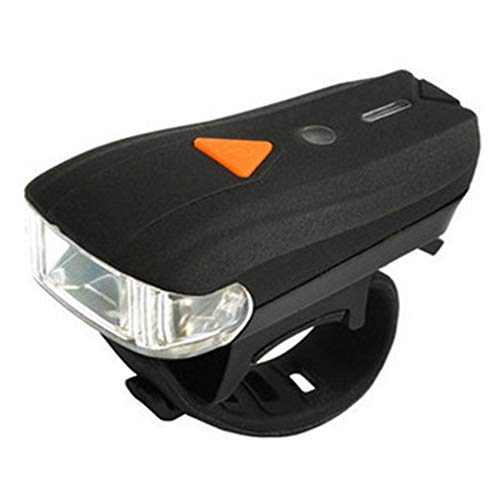 Cimoto Luz de Bicicleta de VibracióN de InduccióN Inteligente, Luz Delantera de Luz de Bicicleta de MontaaA Al Aire Libre con Carga USB con Luz 1XTail