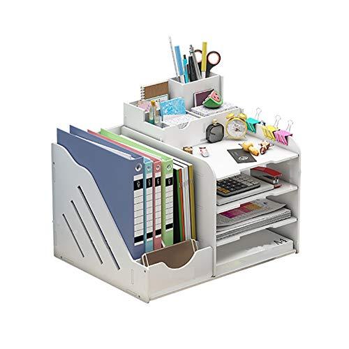 Dyna-Living Schreibtisch-Organizer,Tisch-Organizer Multifunktional,Hohe Kapazität Schreibtisch Aufbewahrungsbox für Büroutensilien,Desktop-Speicher,Briefablage....
