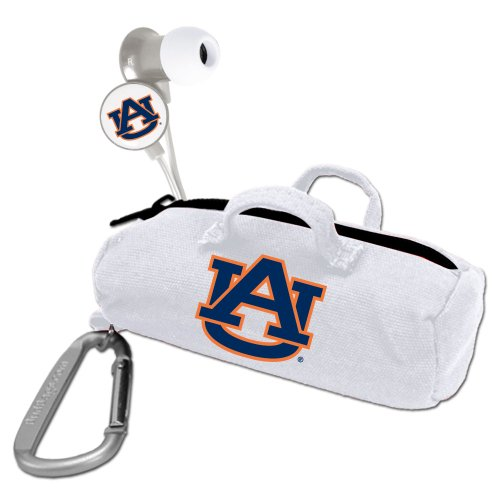 AudioSpice Collegiate Auburn University Tigers Scorch Earbuds with Bud Bag