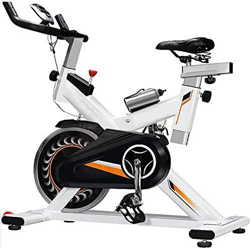 ZJDM Bicicleta de Ejercicio para Bicicletas de Interior, Bicicleta de Cardio para Ejercicios en casa, con Monitor de frecuencia cardíaca, Volante, Manillar Ajustable Asiento a Bordo