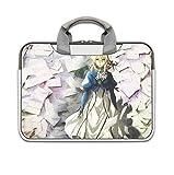 Anime Violet Evergarden 11,6-13,3 Pulgadas Bandolera para Ordenador portátil Lienzo Ordenador Tableta maletín para Ordenador portátil-Color 1_Size 4