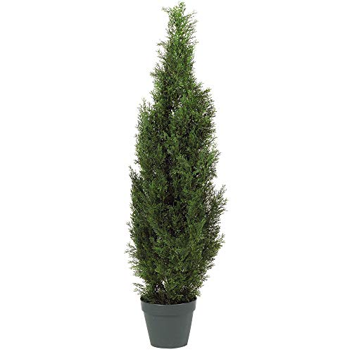 "Nearly Natural 5172 4ft. Cedar Tree Silk Tree (Indoor/Outdoor),Green,49.5"" x 9"" x 9"""