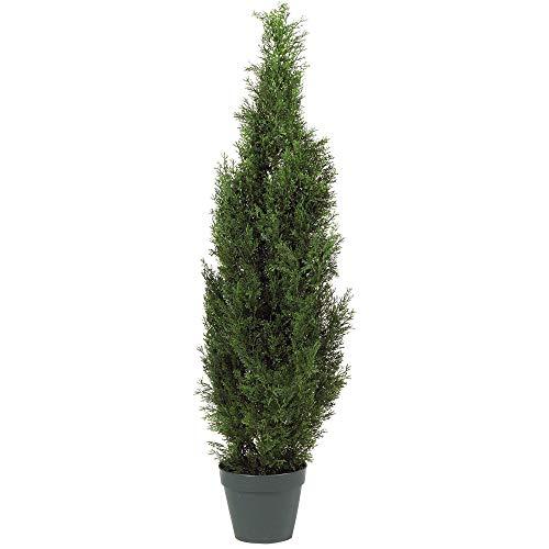 Nearly Natural 5172 4ft. Cedar Tree Silk Tree (Indoor/Outdoor),Green,49.5