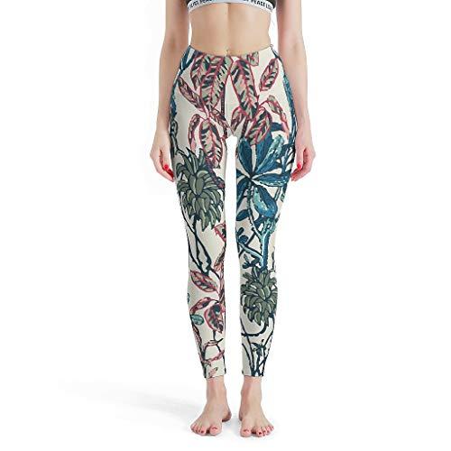 RQPPY Printed Yoga Sporthose Mädchen Flower, Grass, Plant, Pattern Active Leggings für Stretch
