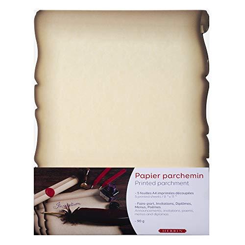 Clairefontaine 427B Foglio Carta Pergamina A4, Confezione da 5 Pezzi