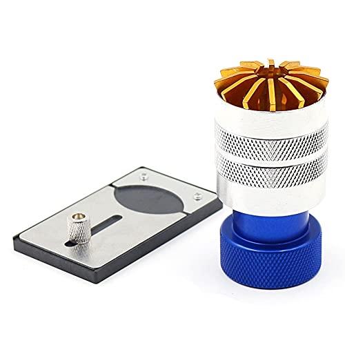 Kirmax Quitar Reemplazo ReparacióN Abridor de Botellas Herramienta Herramienta Enrolladora de Reloj MáQuina de Pegamento de Reloj Vidrio Azul