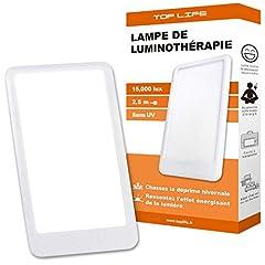 Dagsljuslampa 15000 Lux - Justerbart dagsljus 3 intensiteter - Ljusterapilampa för att kompensera för brist på ljus - Bevisad terapeutisk effekt mot säsongsdepression (SAD)