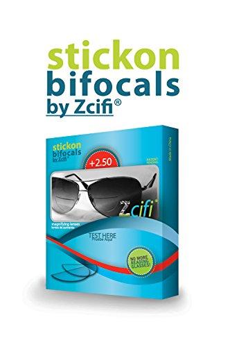 Stick-on Bifocals by Zcifi +2.50, 2PK…