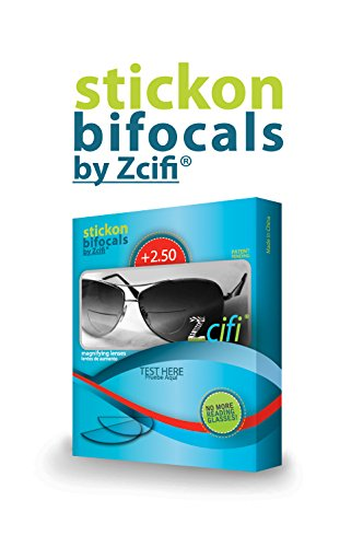 Stick-on Bifocals by Zcifi +2.50, 2PK…