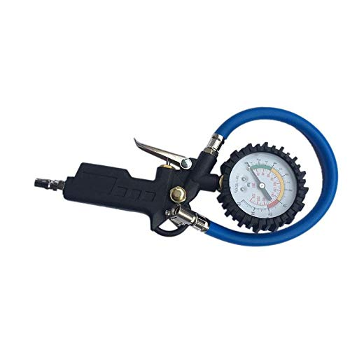 TANGIST Presión Coche Neumático Aire Medidor de presión Medidor de dial Vehículo Inflación Pistola Agotado Pistola Grip Inflador para Auto 220PSL