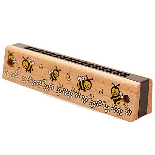 PULABO Kinder Cartoon Holz Mundharmonika Musikinstrument Pädagogisches Spielzeug 16 Löcher Mundharmonika Spielzeug für Kinder Zufällige Farbe 1 Stücke kostengünstige und langlebig Hohe Qualität,Sich