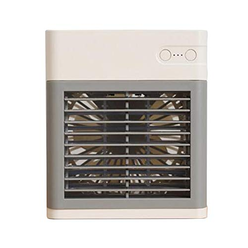 Climatizador portátil, ventilador USB, mini enfriador de aire con humidificador, 3 en 1, enfriador de aire personal, carga USB y 3 velocidades ajustables, para casa, dormitorio, oficina, exterior