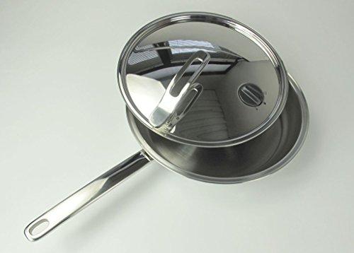 TUPPERWARE Chef-Serie Gourmet-Line Pfanne 28 cm inkl. Metalldeckel Edelstahl