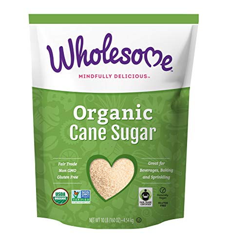 Wholesome Organic Cane Sugar, Fair Trade, Non GMO & Gluten Free, 10 Pound $7.97