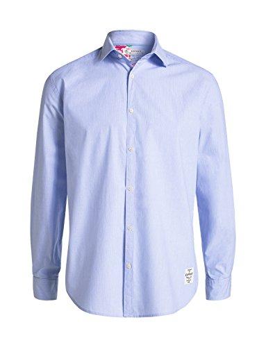 Esprit 026EE2F005 - Chemise casual - Taille normale - Manches longues - Homme, Bleu (PASTEL BLUE 435), Medium