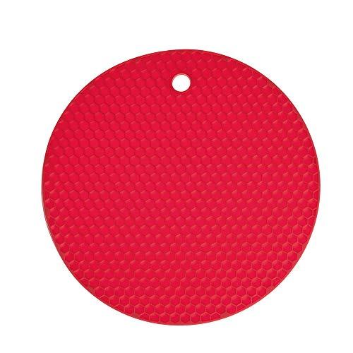 Waben - Untersetzer - Rund - Kochblume Farbe rot