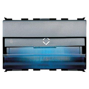 Gewiss GW30605 Treppenstufenleuchten mit Ausrichtbarem Lichtbündel - 12/24 V - Hellblau - 3 Module - Playbus