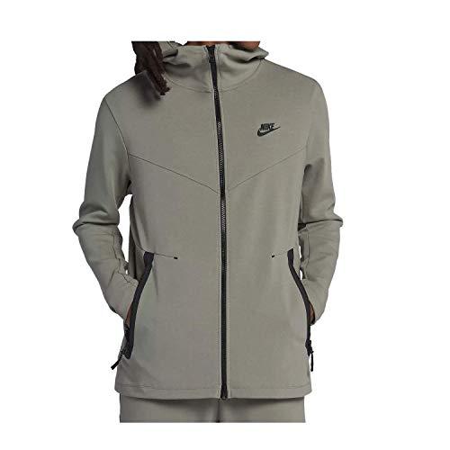 NIKE Mens Tech Fleece Pack Full Zip Training Hoodie Dark Stucco/Black AA3784-004 Size X-Large